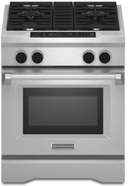 Kitchenaid Gas Stoves kitchenaid dual fuel stainless steel range - kdrs407vss