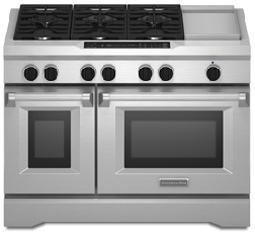 Kitchenaid Gas Stoves kitchenaid dual fuel stainless range - kdrs483vss - abt