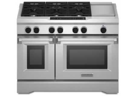Kitchenaid dual fuel stainless range kdrs483vss abt - Kitchenaid inch dual fuel range ...