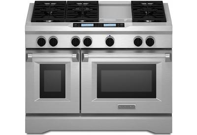Kitchenaid 48 Quot Commercial Dual Fuel Range Kdru783vss