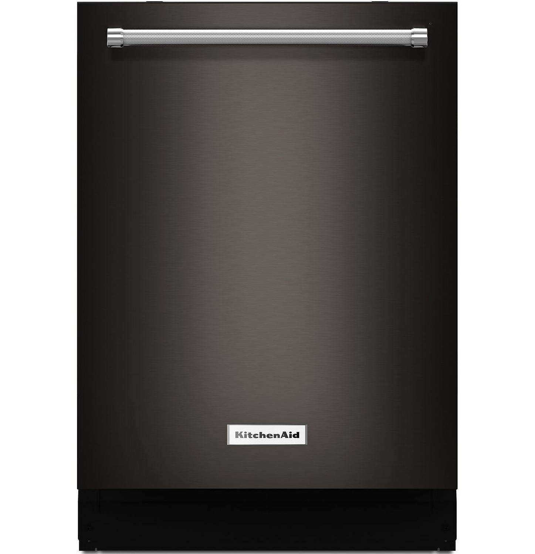 KitchenAid Black Stainless Dishwasher - KDTM704EBS