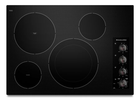 "KitchenAid 30"" Black Electric Cooktop - KECC604BBL"