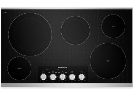 "KitchenAid 36"" Stainless Electric Cooktop - KECC664BSS"