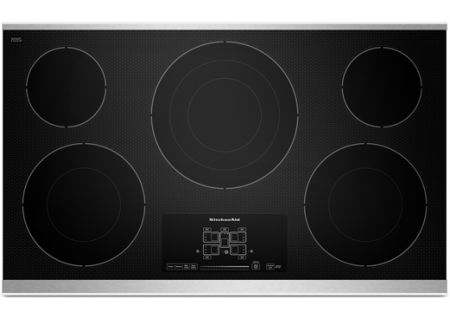 """KitchenAid 36"""" Stainless Electric Cooktop - KECC667BSS"""