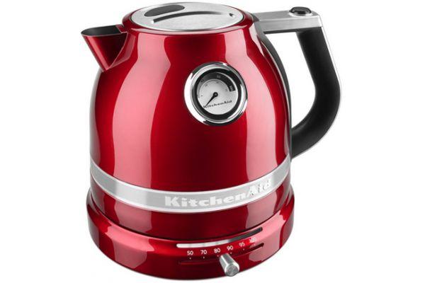 Large image of KitchenAid Pro-Line 1.6 Qt. Candy Apple Red Electric Kettle - KEK1522CA