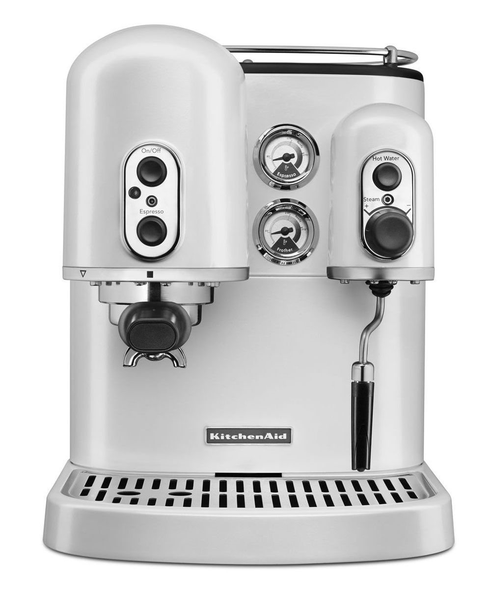 Dual Coffee Maker Hot Water Dispenser : KitchenAid Espresso Maker Dual Boilers - KES2102FP