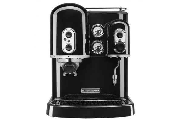 KitchenAid Black Pro Line Series Espresso Maker With Dual Independent Boilers (Closeout) - KES2102OB