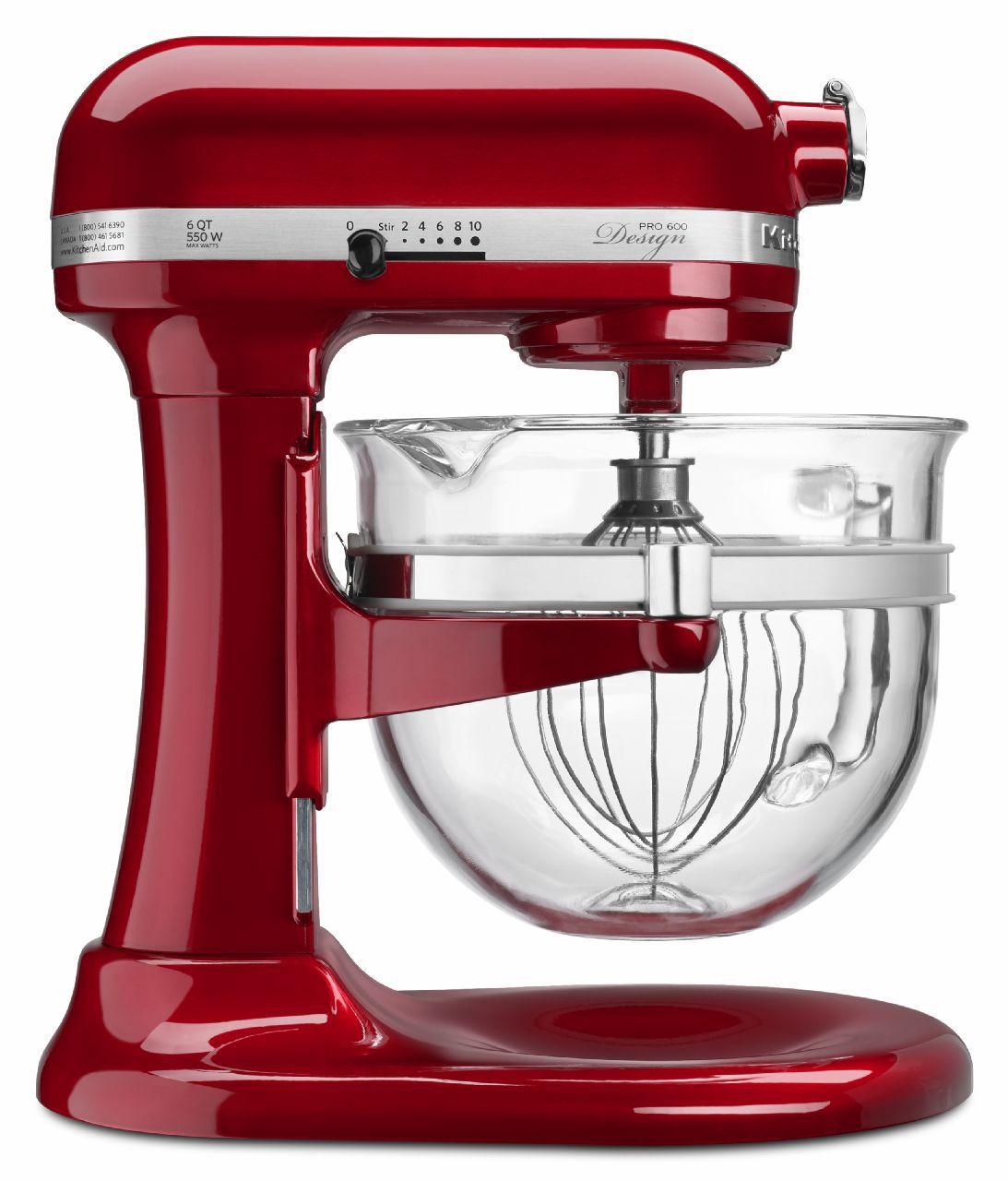 KitchenAid Professional 600 Series 6 Quart Candy Apple Red Bowl-Lift Stand  Mixer