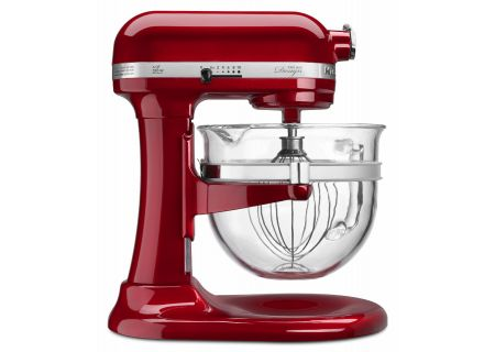 KitchenAid Professional 600 Series 6 Quart Candy Apple Red Bowl-Lift Stand Mixer - KF26M22CA