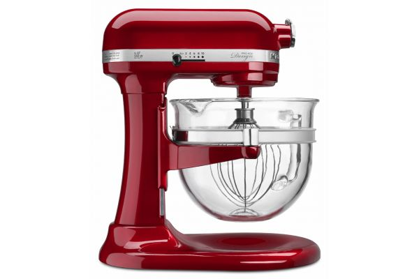 KitchenAid Professional 600 Series 6 Quart Candy Apple Red Bowl-Lift Stand Mixer - KF26M22CA