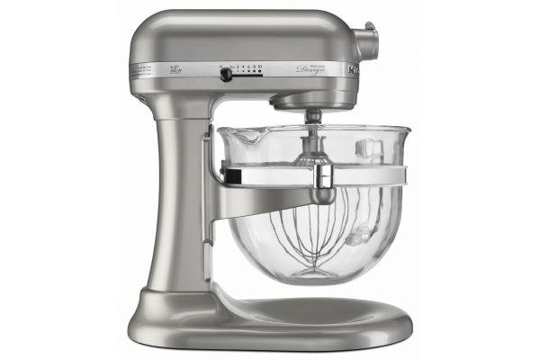 KitchenAid Professional 600 Series 6 Quart Sugar Pearl Silver Bowl-Lift Stand Mixer - KF26M22SR