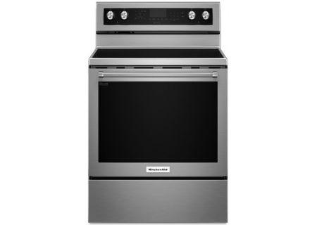 "KitchenAid 30"" Stainless Steel Freestanding Electric Range - KFEG500ESS"
