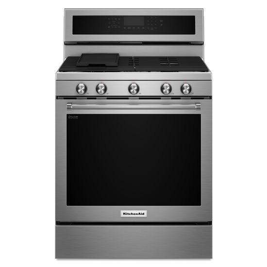 Kitchenaid 30 stainless freestanding range kfgg500ess - Kitchenaid gas range ...