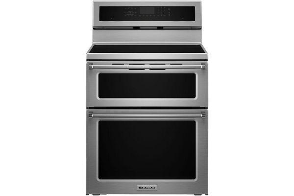 "Large image of KitchenAid 30"" Stainless Steel Double Oven Induction Range - KFID500ESS"