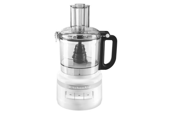 Large image of KitchenAid 7-Cup White Food Processor - KFP0718WH