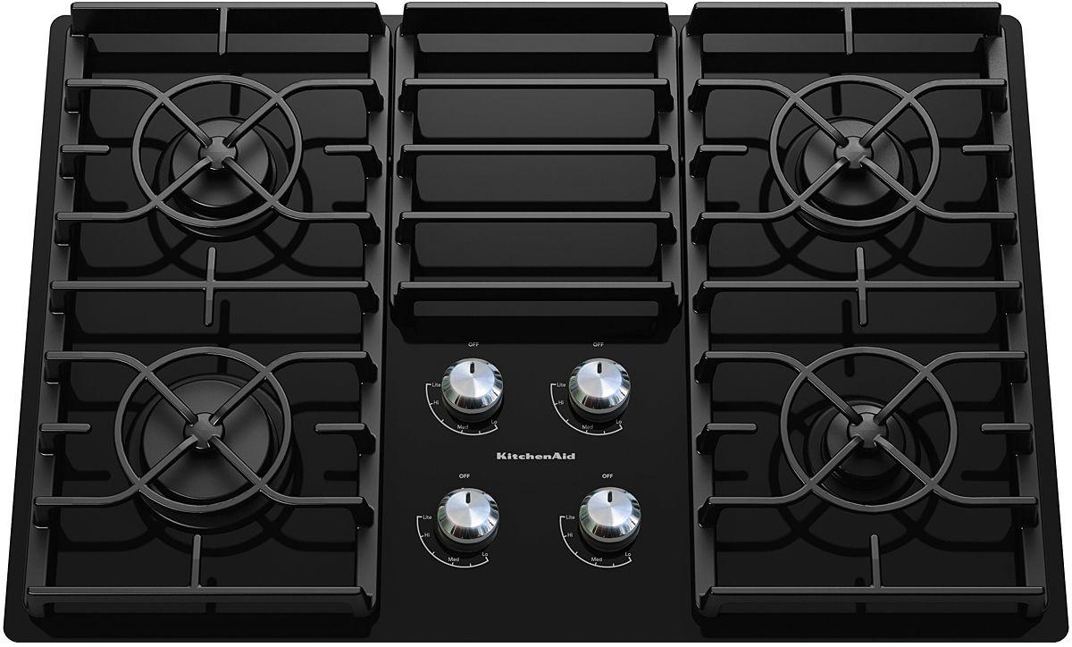 Kitchenaid 30 Gas Cooktop Black