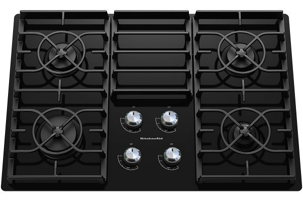 "KitchenAid 30"" Gas Cooktop - Black Finish - KGCC506RBL"