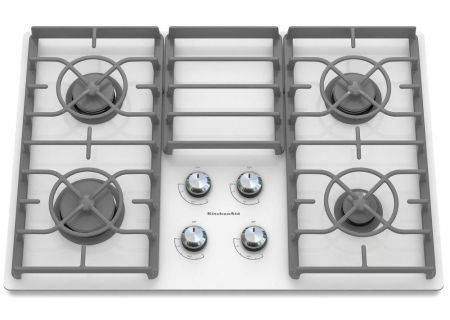 "KitchenAid 30"" Gas Cooktop - White Finish - KGCC506RWW"