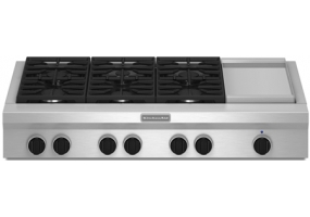 KitchenAid - KGCU483VSS - Gas Cooktops