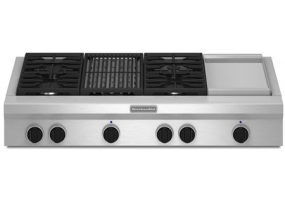 KitchenAid - KGCU484VSS - Gas Cooktops