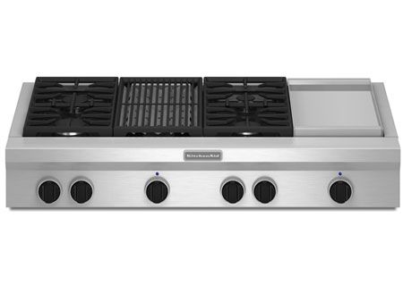 KitchenAid - KGCU484VSS - Gas Cooktops