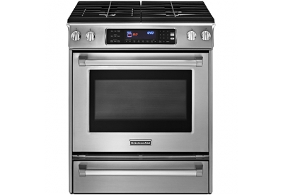 KitchenAid - KGSS907XSP - Slide-In Gas Ranges