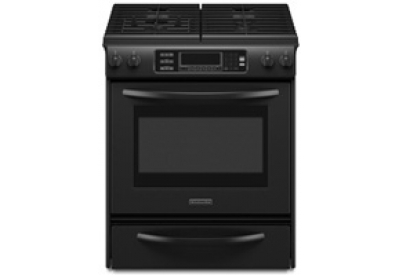 KitchenAid - KGSS907SBL - Slide-In Gas Ranges