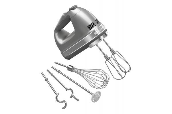 KitchenAid 9 Speed Contour Silver Hand Mixer - KHM926CU