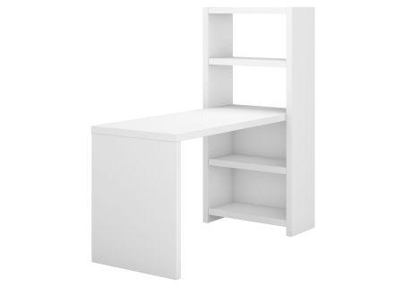 Office by Kathy Ireland Echo 56W Bookcase Desk In Pure White - KI60107-03