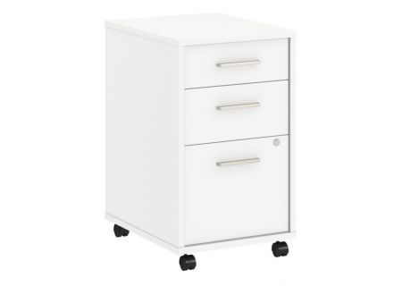 Bush Furniture Method White 3 Drawer Mobile File Cabinet - KI70203SU