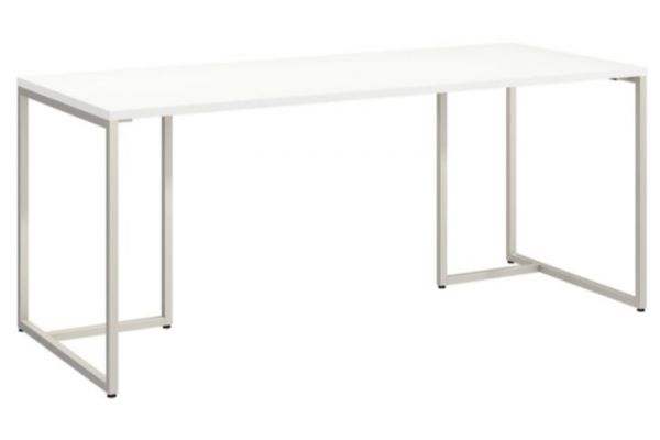 Large image of Bush Furniture Method White 72W Table Desk - KI70207K