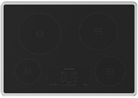 """KitchenAid 30"""" Stainless Steel Induction Electric Cooktop - KICU500XSS"""