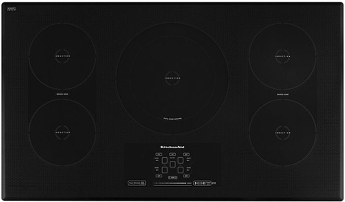Kitchenaid 36 Black Electric Induction Cooktop Kicu569xbl