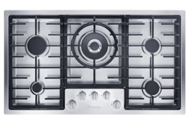 """Large image of Miele 36"""" Stainless Steel Flush-Mounted Gas Cooktop - 09450190"""