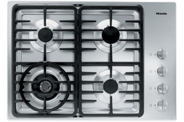 "Large image of Miele 30"" 4 Burner 3000 Series Stainless Steel LP Gas Cooktop - 06792730"