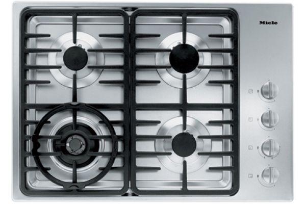 "Large image of Miele 30"" 4 Burner 3000 Series Stainless Steel LP Gas Cooktop - 06792730"
