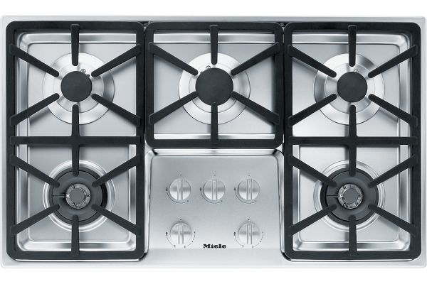 """Large image of Miele 36"""" Stainless Gas Cooktop - 06792760"""