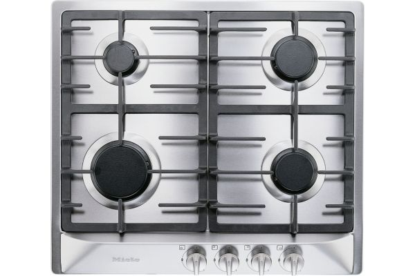 """Large image of Miele 24"""" Stainless Steel KM 360 Liquid Propane Gas Cooktop - 06391570"""