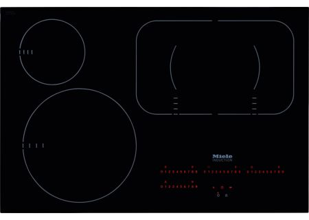"Miele 30"" Black Built-In Induction Electric Cooktop  - KM6365"