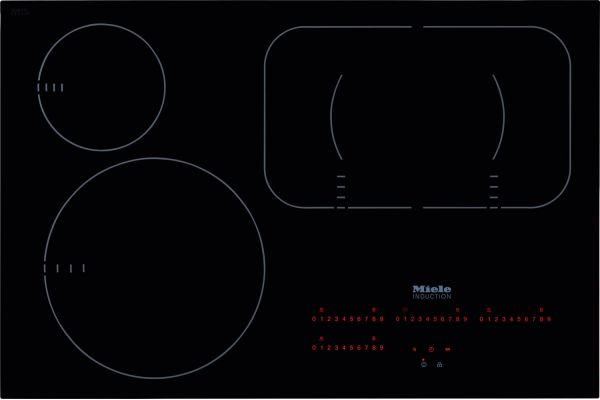 """Large image of Miele 30"""" Black Built-In Induction Electric Cooktop - 09775900"""