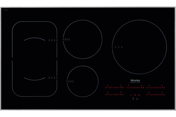 """Large image of Miele 36"""" Black Built-In Induction Electric Cooktop - 09775910"""