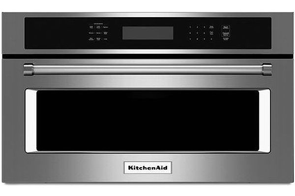 """Large image of KitchenAid 30"""" Stainless Steel Built-In Convection Microwave Oven - KMBP100ESS"""