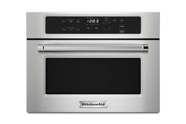 """Large image of KitchenAid 24"""" Stainless Steel Built In Microwave Oven - KMBS104ESS"""