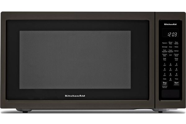 Large image of KitchenAid Black Stainless Steel Countertop Convection Microwave Oven - KMCC5015GBS