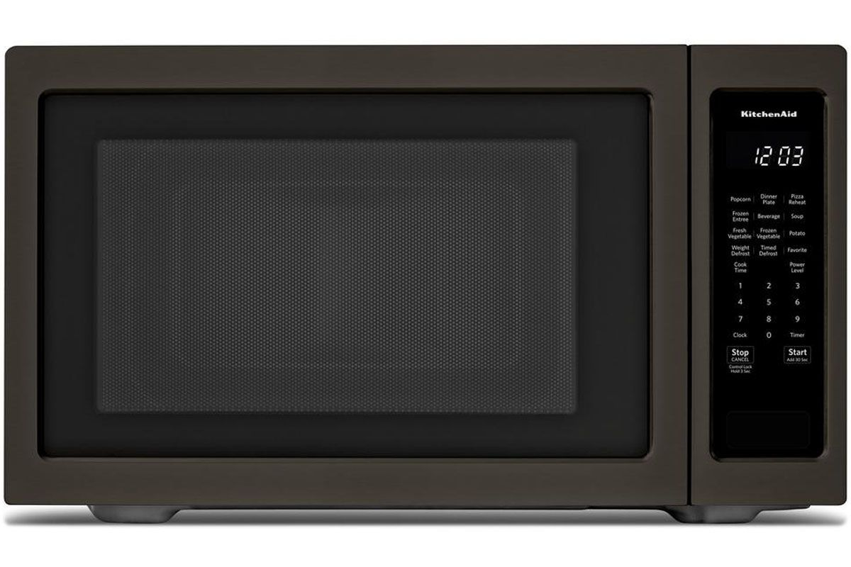 kitchenaid black stainless steel microwave - kmcs3022gbs