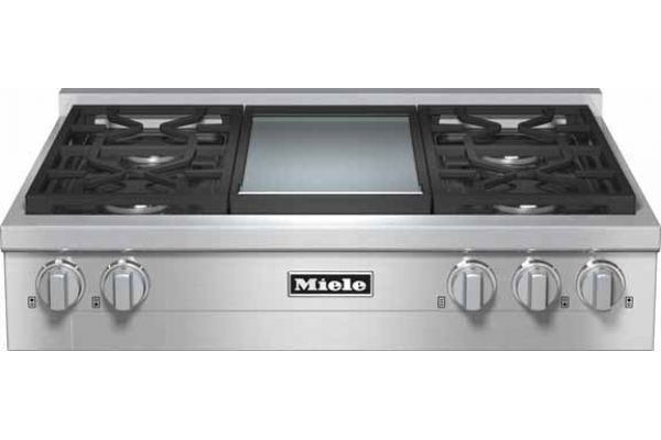 """Large image of Miele 36"""" Gas Stainless Steel Rangetop - KMR1136G"""
