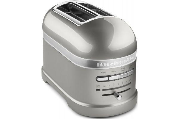 KitchenAid Sugar Pearl Silver 2-Slice Toaster - KMT2203SR
