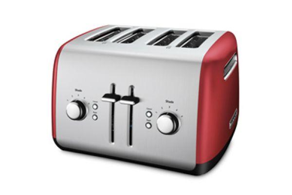KitchenAid Empire Red 4-Slice Toaster - KMT4115ER