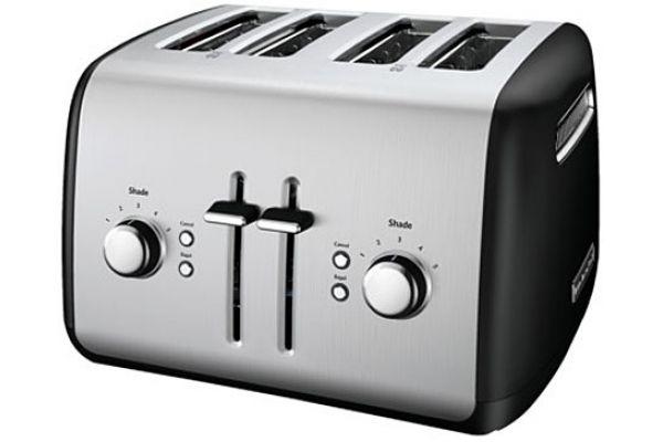 KitchenAid Onyx Black 4 Slice Toaster - KMT4115OB