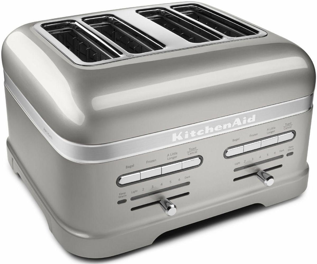 kitchenaid sugar pearl silver 4 slice toaster kmt4203sr. Black Bedroom Furniture Sets. Home Design Ideas